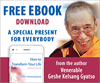 Image of How to Transform Your Life Free eBook and Venerable Geshe Kelsang Gyatso