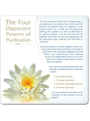 The Four Opponent Powers of Purification - large postcard