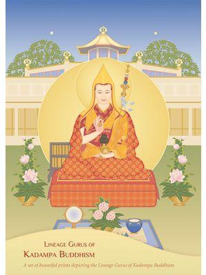 Kadampa Lineage Gurus - Card set - Front Cover