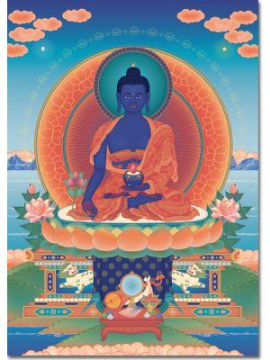 Medicine Buddha 2 - A6 card, A5 large card, A4 small poster