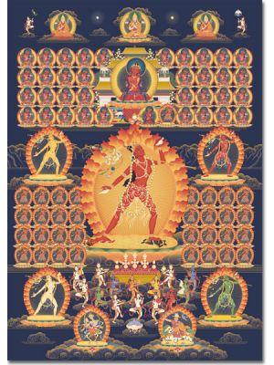 Vajrayogini 7 (com Gurus-linhagem e Dakinis) - A3