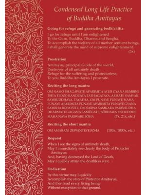 Condensed Long Life Practice of Buddha Amitayus - Booklet