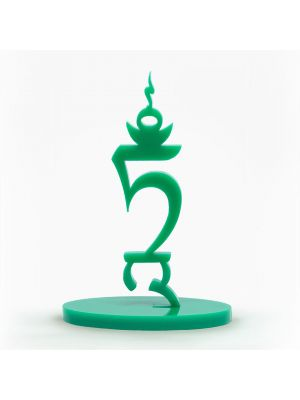 Seed Letter TAM Green Acrylic Free Standing, 3in