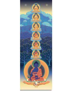Los siete Budas de la medicina 3 -  A4  poster pequeño