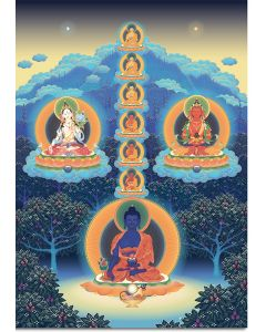 The Seven Medicine Buddhas with Deities of Long Life