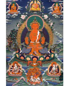 Amitayus with Gurus & Buddhas