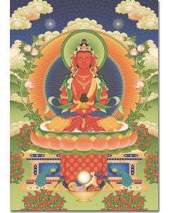 Amitayus 2 - A6 card, A5 large card, A4 small poster