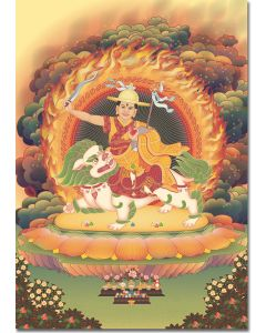 Dorje Shugden 4 - A6 card, A5 large card, A4 small poster