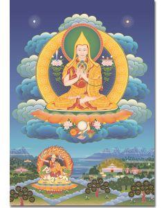Guru Sumati Buddha Heruka 3 (with temples), A6, A5, A4