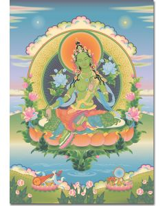 Green Tara 3 - A6 card, A5 large card, A4 small poster