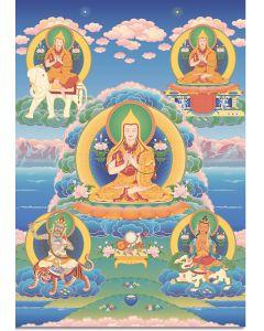 Khedrubje's five visions of Je Tsongkhapa