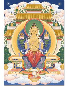 Maitreya 4 (seated) - A6 card, A5 large card, A4 small poster