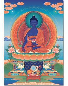 Medicine Buddha 2 - A6 card, A5 large card, A4 small poster
