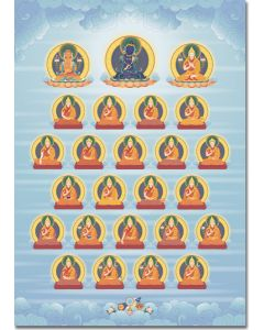 Mahamudra Lineage Gurus 2 - A5 (without names)