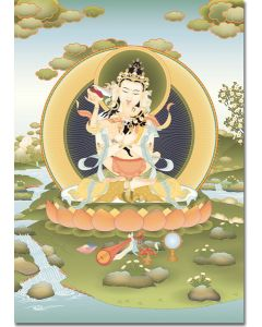 Vajrasattva Father and Mother - card,  large card, print