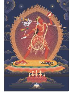 Vajrayogini 6 - A6 card, A5 large card, A4 small poster