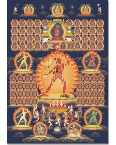 Vajrayogini 7 (Lineage Gurus and Dakinis) A3 - medium poster