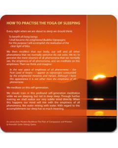 The Yoga of Sleeping and Rising - large postcard