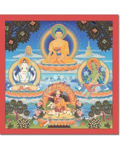 Four Kadampa Guru Deities