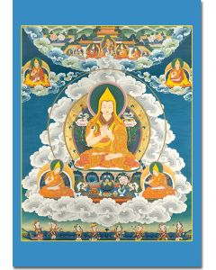 Je Tsongkhapa 3 (with Sons and Offering Godesses)
