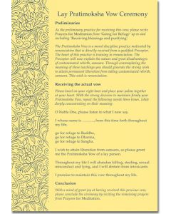 Lay Pratimoksha Vow Ceremony - Print