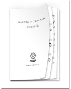 Nine-Line Migtsema Prayer Sheet Music