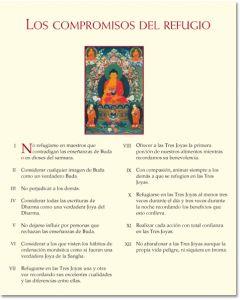 Lámina de sabiduría – Los compromisos del refugio