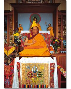 Geshe Kelsang Gyatso 07 (on throne)