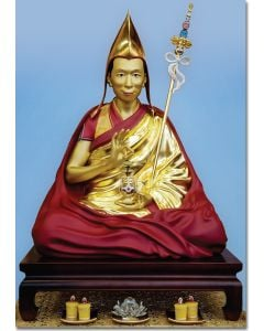 Geshe Kelsang Statue - A5 large card