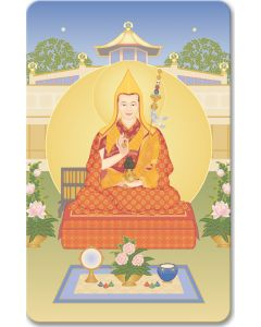 Geshe Kelsang 15 (with World Peace Temple) - minicard