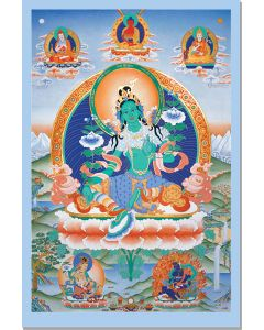 Green Tara (with Lineage Gurus)