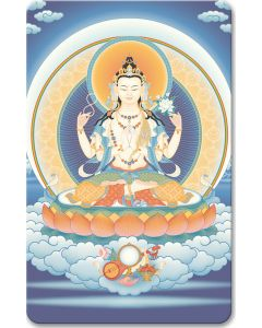 Avalokiteshvara (4-armed) 2 - wallet card