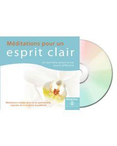Méditations pour un esprit clair- digipack recto