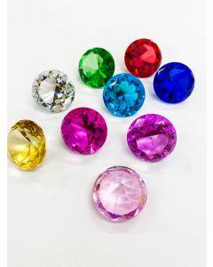 Diamond Glass - Various Colours 5cm