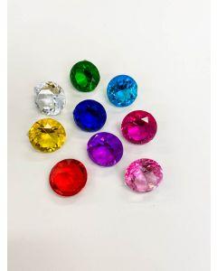 Diamond Glass - Various Colours 4cm