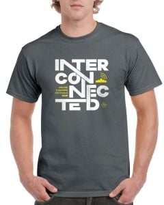Kadampa Festival T-Shirt 'Interconnected' - CHARCOAL