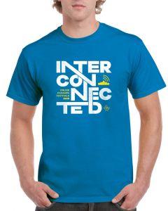 Kadampa Festival T-Shirt 'Interconnected' - SAPPHIRE