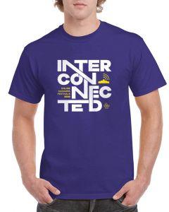 Kadampa Festival T-Shirt 'Interconnected' - COBALT