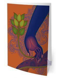 Greeting Card - Medicine Buddha - Holding a Medicinal Plant