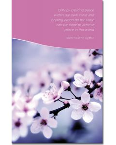 Greeting Card - Flowers and Inner Peace