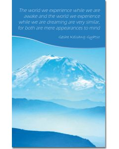 Mini Message Card - Dream Mountain