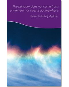 Mini Message Card - Emptiness of Rainbow
