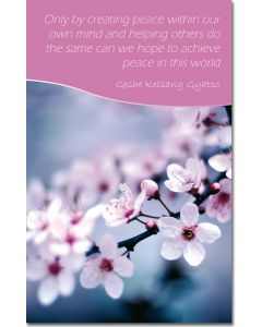 Mini Message Card - Flowers and Inner Peace