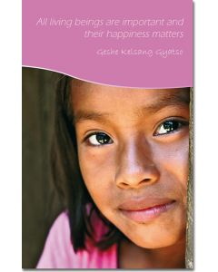 Mini Message Card - Girl and Happiness