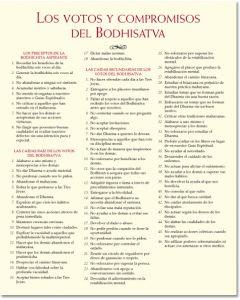 Lámina de sabiduría – Los votos y compromisos del Bodhisatva