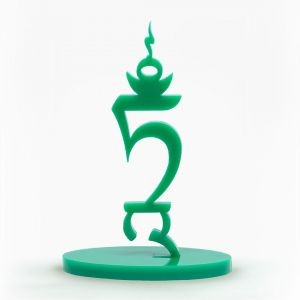 Seed Letter TAM Green Acrylic Free Standing, 9cm